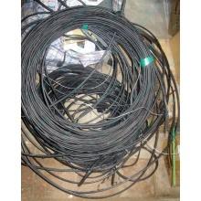 Оптический кабель Б/У для внешней прокладки (с металлическим тросом) в Ивантеевке, оптокабель БУ (Ивантеевка)
