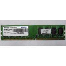 Модуль оперативной памяти 4Gb DDR2 Patriot PSD24G8002 pc-6400 (800MHz)  (Ивантеевка)