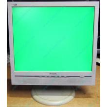 """Б/У монитор 17"""" Philips 170B с колонками и USB-хабом в Ивантеевке, белый (Ивантеевка)"""